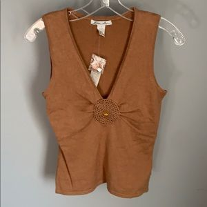 NWT! Lillie Rubin Ladies Tan  Top